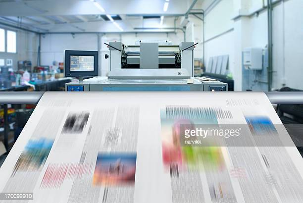 newspaper printing - printing plant stock pictures, royalty-free photos & images