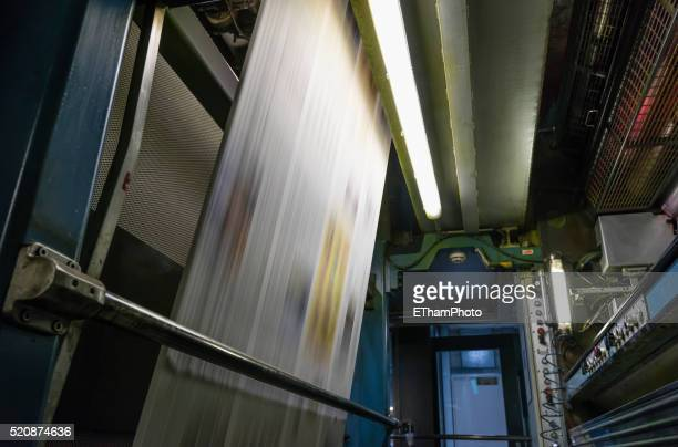 Newspaper production at Tamedia Zurich printing plant