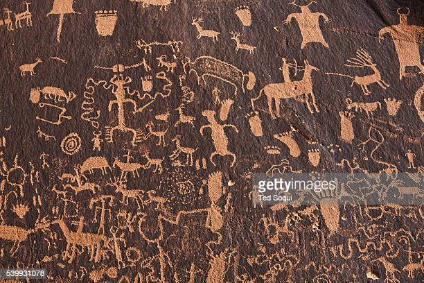 Newspaper Rock located in Utah features over 650 indigenous petroglyphs dating back to 2000 years