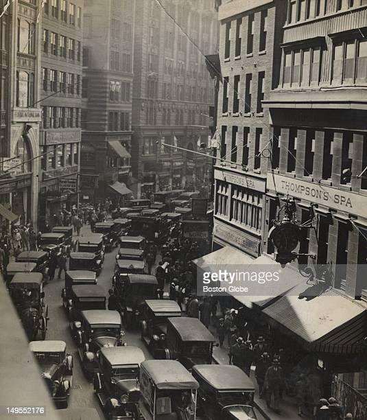 Newspaper Row on Washington Street.