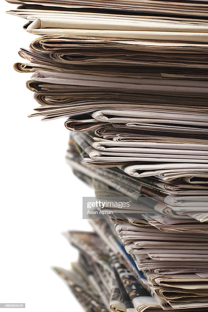Newspaper stack : Stock Photo