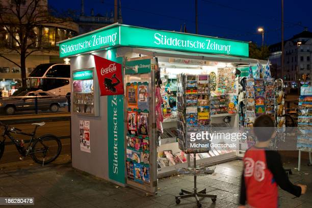 A newspaper stall on October 28 2013 in Munich Germany