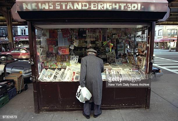 Newspaper stand in Brighton Beach