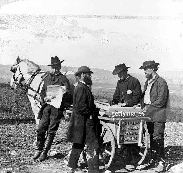 Newspaper suppliers in the Civil War. Vicinity of Culpeper, Virginia.