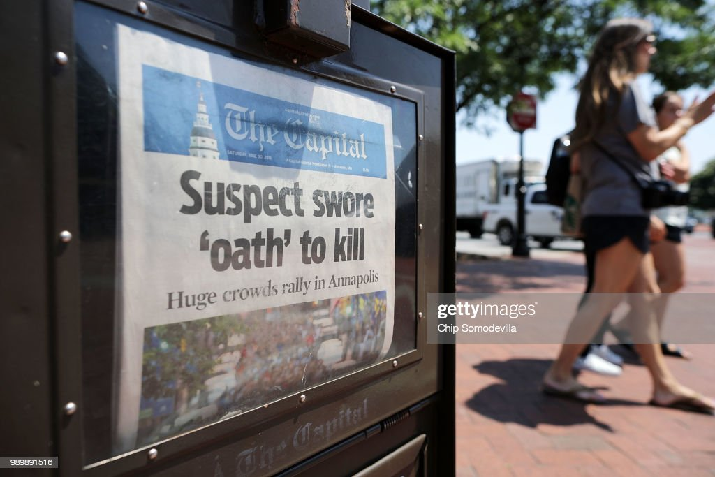 Annapolis Mourns The Loss Of Capital-Gazette Employees Killed By Gunman : News Photo