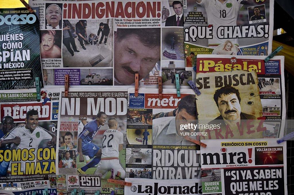 MEXICO-CRIME-DRUGS-GUZMAN-ESCAPE : ニュース写真