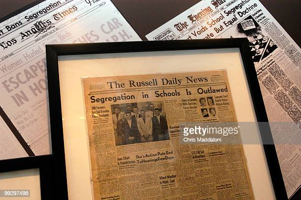 Newspapers about Brown v Board of Education part of the new exhibit at the Library of Congress With and Even Hand on the fiftieth anniversary of the...