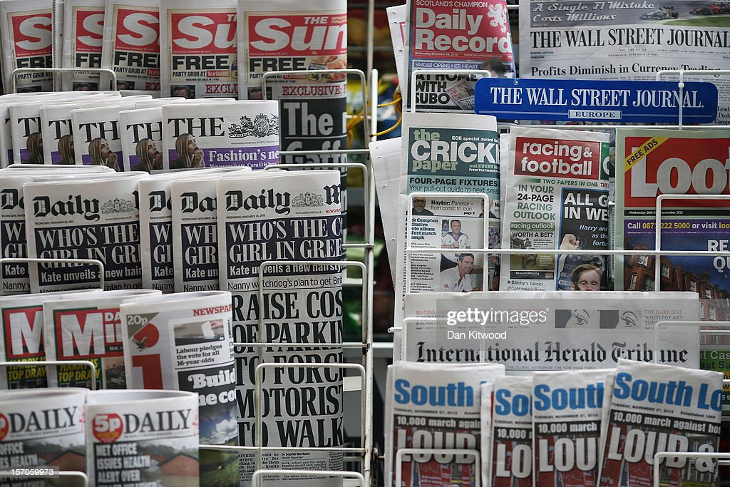 British Media Await Lord Justice Leveson's Report : News Photo