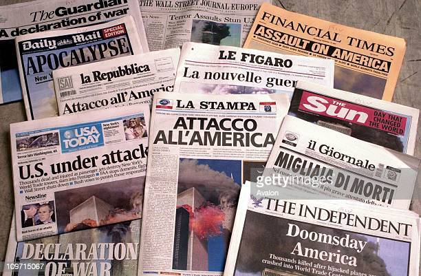 Newspapers Depicting The 9/11 Bombings In New York
