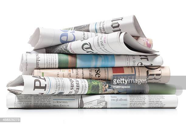 newspapers - stack stock photos and pictures
