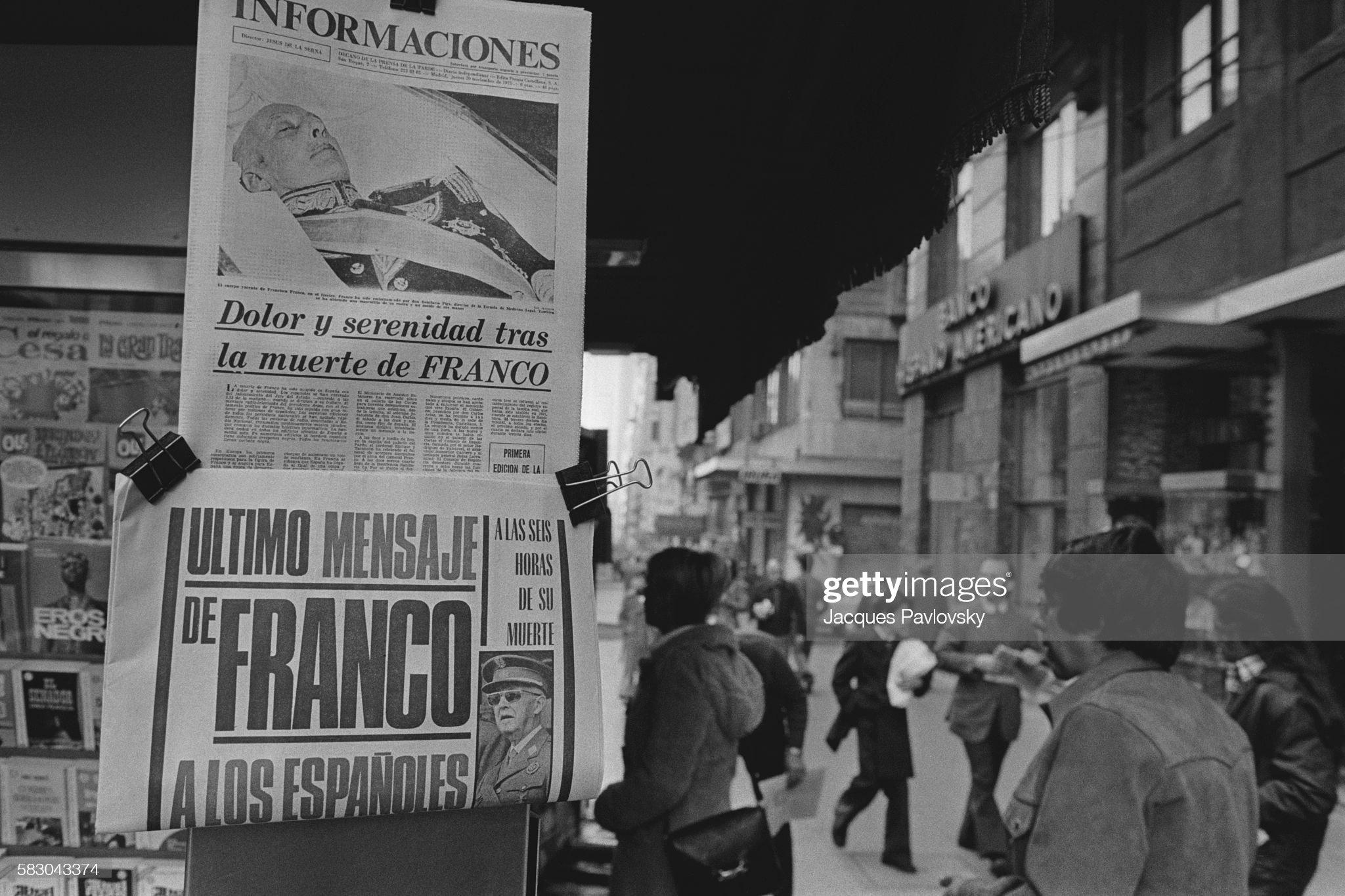 Death of General Franco : Fotografía de noticias