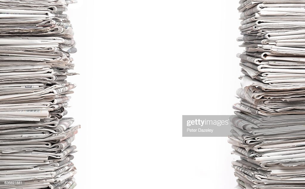 Newspapers with copy space : Stock Photo