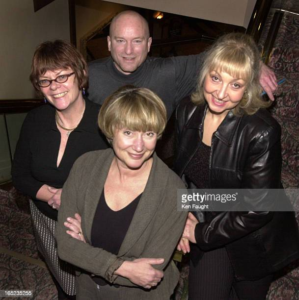 Newspapers04_kf_012402_phototrak060483 Male is Mike Strobel then left to right for women are Christie Blatchford Margaret Wenteand our very own...