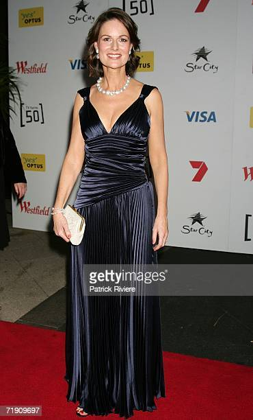 TV newsreader Ann Sanders attends Channel Seven's TV Turns 50 The Event That Stopped a Nation at Star City on September 17 2006 in Sydney Australia