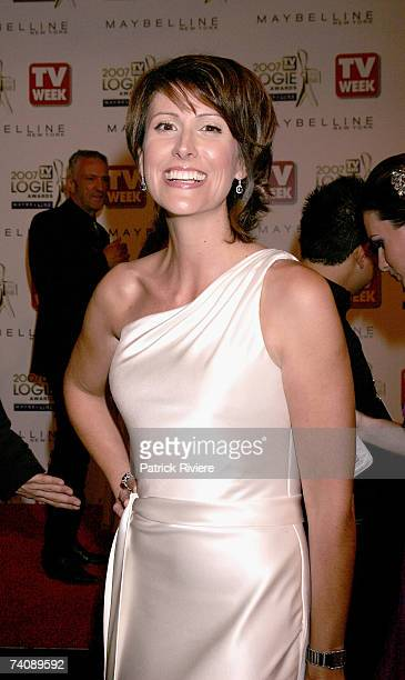 Newsreader Natalie Barr arrives at the 2007 TV Week Logie Awards at the Crown Casino on May 6 2007 in Melbourne Australia The annual television...