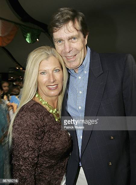 TV newsreader Ross Simons attends with his wife Jenny the premiere of 'Mystic India' at the IMAX Theatre on February 7 2006 in Sydney Australia