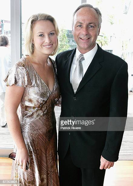 Newsreaders Celina Edmonds and Leigh Hatcher attend the nominations announcement for the 2006 ASTRA Awards at the Arena Bar on March 29, 2006 in...