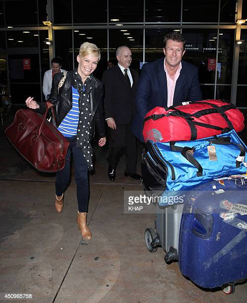 TV newsreaders Jessica Rowe and Peter Overton sighting on June 20 2014 in Sydney Australia