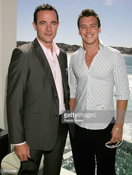 Newsreaders Michael Willesee JR and James Bracey attend the nominations announcement for the 2007 ASTRA Awards at Icebergs Bondi on March 28 2007 in...