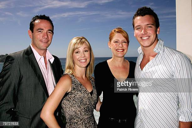 Newsreaders Michael Willesee JR Nicole Webb Vanessa Trezise and James Bracey attend the nominations announcement for the 2007 ASTRA Awards at...