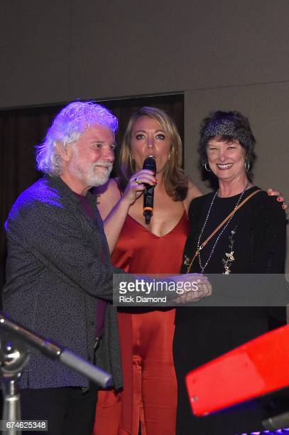 CNN Newsroom Anchor Brooke Baldwin and Rose Lane White Leavell sing Happy Birthday for Rolling Stones pianist and musical director Chuck Leavell...