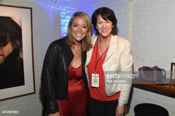 Newsroom Anchor Brooke Baldwin and USA Today sports columnist Christine Brennan attend the White House Correspondents' Jam at The Hamilton on April...