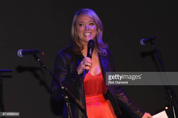 Newsroom Anchor Brooke Baldwin speaks onstage during the White House Correspondents' Jam at The Hamilton on April 28 2017 in Washington DC