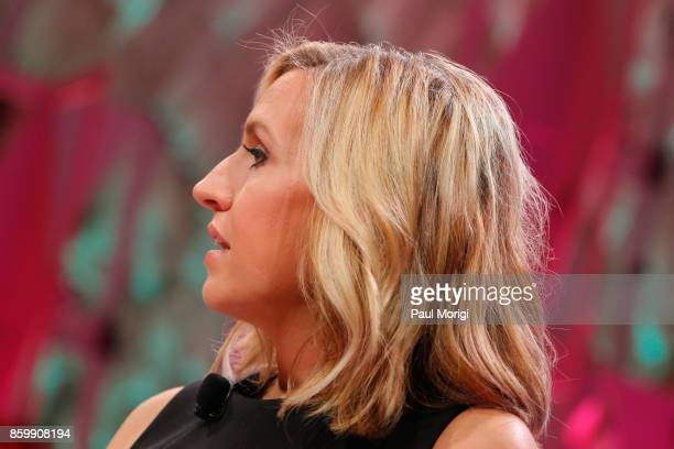 Newsroom Anchor Poppy Harlow speaks onstage at the Fortune Most Powerful Women Summit Day 2 on October 10 2017 in Washington DC