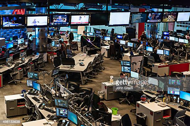 Newsroom at CNN World Headquarters