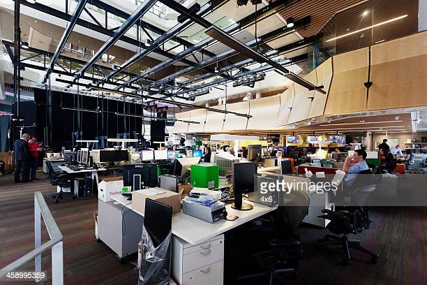 TV newsroom - Channel 7 Sydney