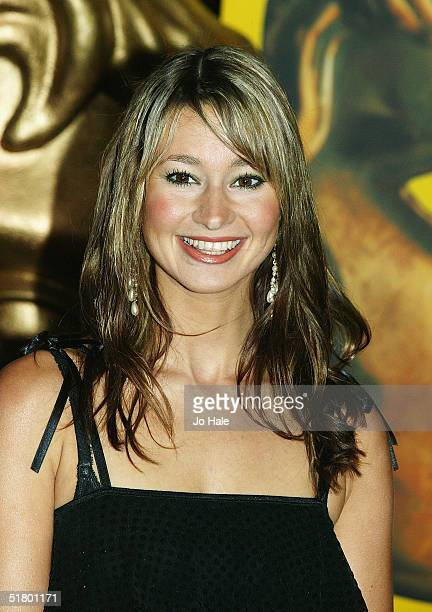 Newsround tv presenter Ellie Crisell arrives at the British Academy Children's Film and Television Awards on November 28 2004 at the London Hilton...