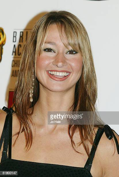Newsround tv presenter Ellie Crisell poses at the boards during the British Academy Children's Film and Television Awards on November 28 2004 at the...