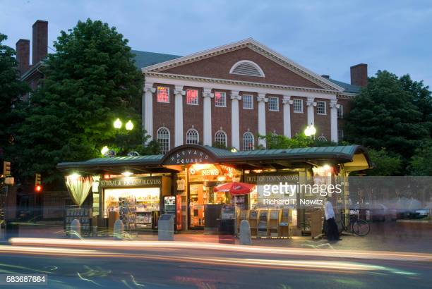 newsstand in harvard square - cambridge massachusetts stock pictures, royalty-free photos & images