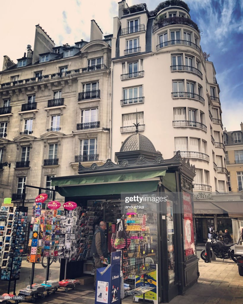 Newsstand in Paris, France : Stock Photo
