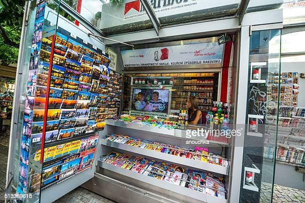 Newsstand in Prague