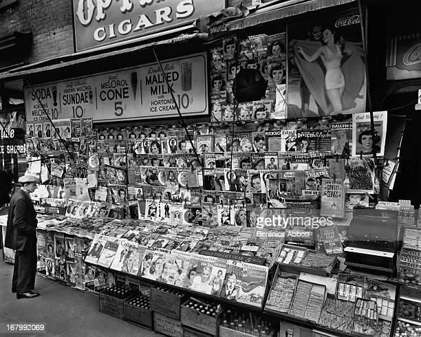 A newsstand New York City USA 1935