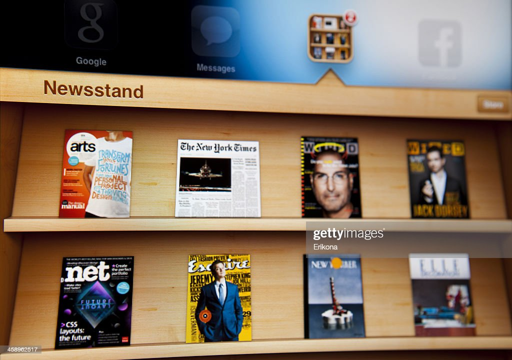 Newsstand on Ipad : Stock Photo