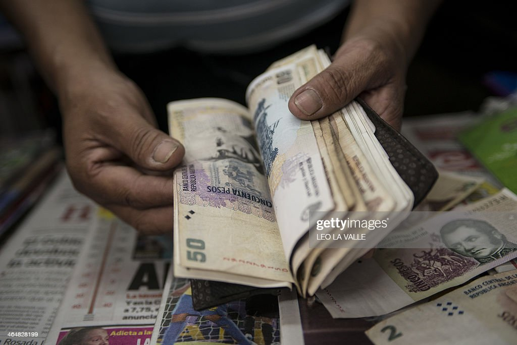 ARGENTINA-ECONOMY-CURRENCY : News Photo
