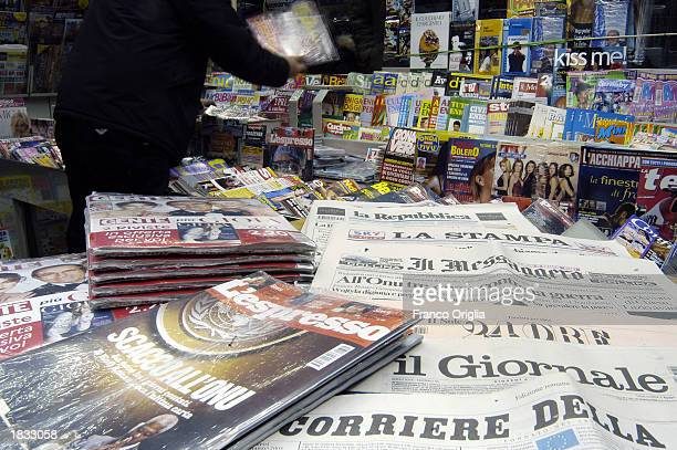 A newstand at Termini railway station is shown March 6 2003 in Rome Italy