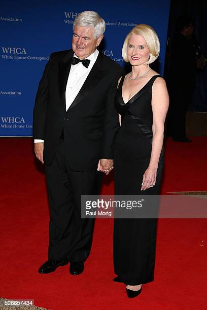 Newt Gingrich and Callista Gingrich attend the 102nd White House Correspondents' Association Dinner on April 30 2016 in Washington DC