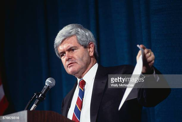 Newt Gingrich speaks to a meeting of the American Medical Association