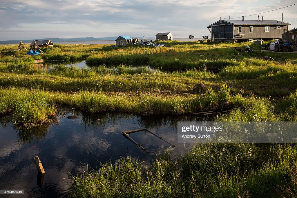 Rising Seas And Warming Temperatures Force Alaskan Coastal Community To Move Inland : News Photo