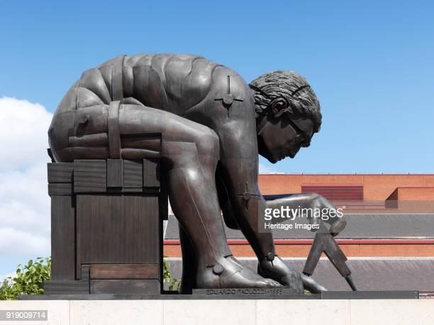 'Newton after Blake' sculpture by Eduardo Paolozzi British Library 98 Euston Road London 2015