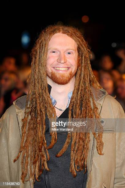 Newton Faulkner arrives at the 2008 Brit Awards held at Earls Court on February 20 2008 in London England