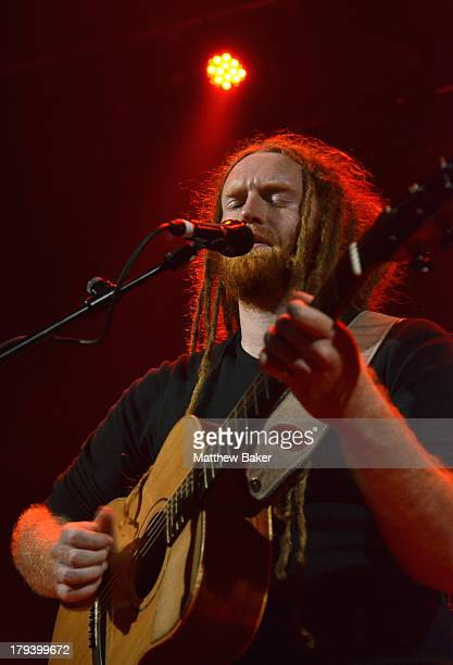 Newton Faulkner performs on stage at Islington Assembly Hall on September 2 2013 in London England