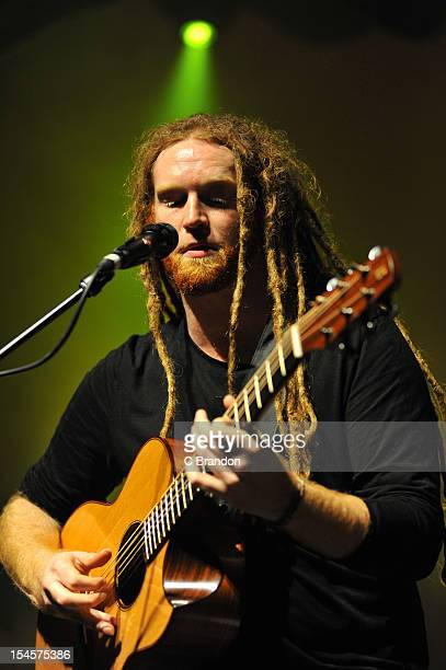 Newton Faulkner performs on stage at Shepherds Bush Empire on October 22 2012 in London United Kingdom