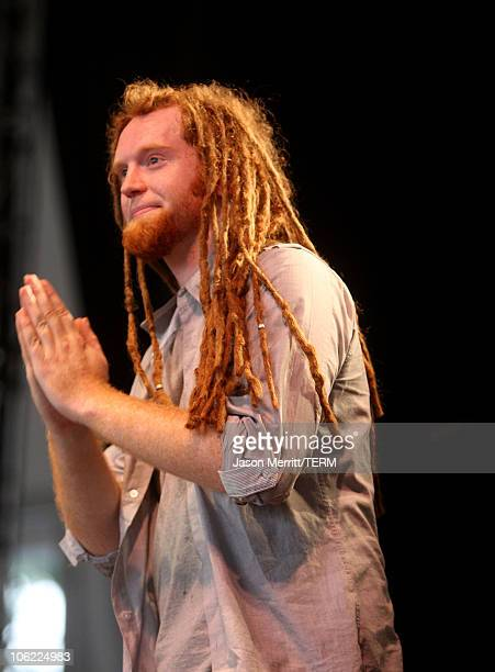 Newton Faulkner performs on stage during Bonnaroo 2008 on June 12 2008 in Manchester Tennessee