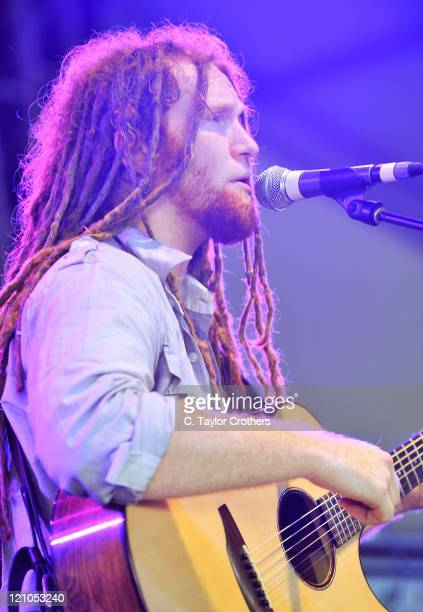 Newton Faulkner performs on stage during Bonnaroo 2008 on June 12th 2008 in Manchester Tennessee