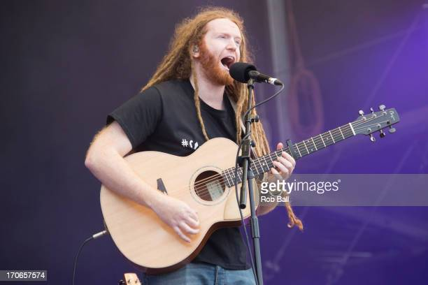 Newton Faulkner performs on the Main Stage during day 4 of the Isle of Wight Festival at Seaclose Park on June 16 2013 in Newport Isle of Wight