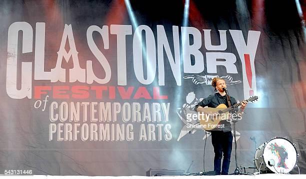 Newton Faulkner performs on The Other Stage at Glastonbury Festival 2016 at Worthy Farm Pilton on June 25 2016 in Glastonbury England